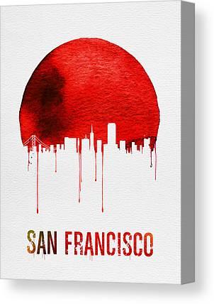 San Francisco Landmark Digital Art Canvas Prints