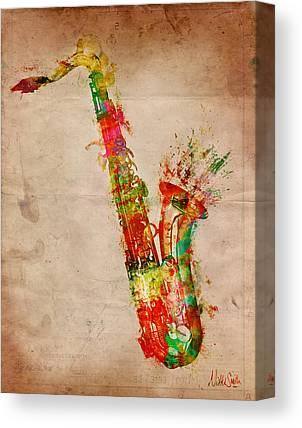 Saxaphones Canvas Prints