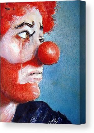 Clown Paintings Canvas Prints
