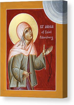 St Xenia Of St Petersburg Canvas Prints