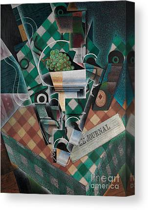 Checked Tablecloths Canvas Prints