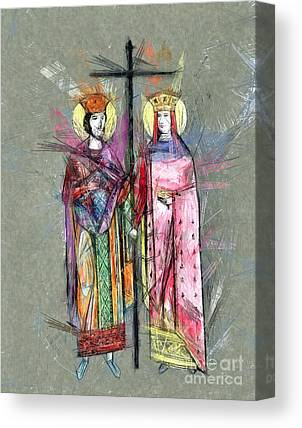 Sts Constantine And Helen Drawings Canvas Prints