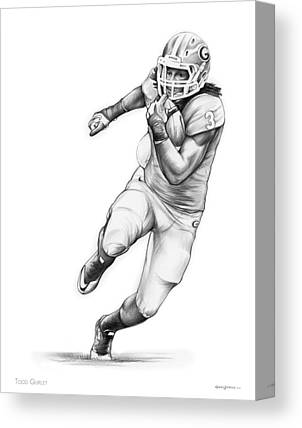 Running Back Canvas Prints
