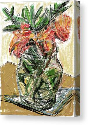 Glass Table Reflection Mixed Media Canvas Prints