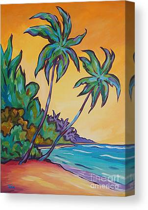 Tropical Stain Glass Canvas Prints