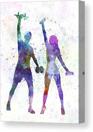 Fitness Instructor Canvas Prints