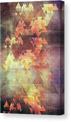 Triangles Digital Art Canvas Prints