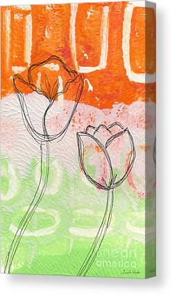 Abstract Tulip Floral Canvas Prints