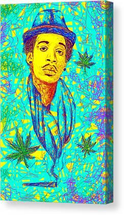 Wiz Khalifa Drawings Canvas Prints