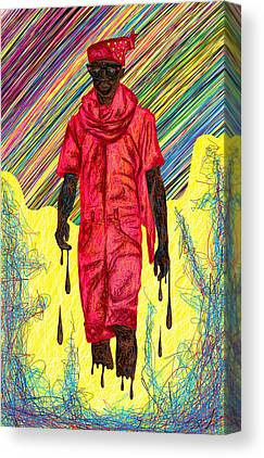 Fashion Abstraction Of Audio Helkuik Canvas Prints