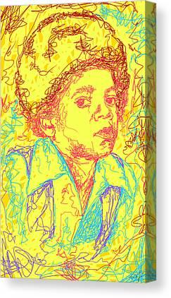 Michael Jackson Abstraction Canvas Prints