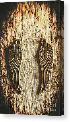 Gold Earrings Canvas Prints