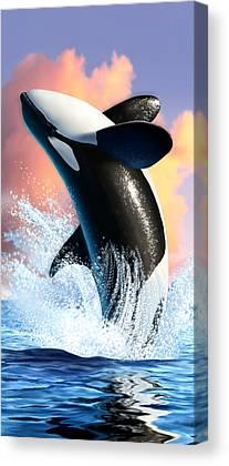 Orca Digital Art Canvas Prints
