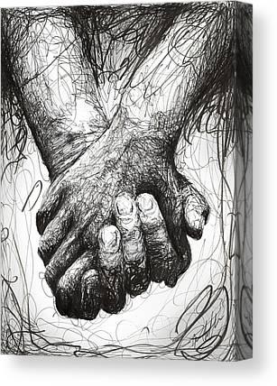 Hand Digital Art Canvas Prints