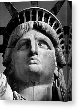Statue Portrait Canvas Prints