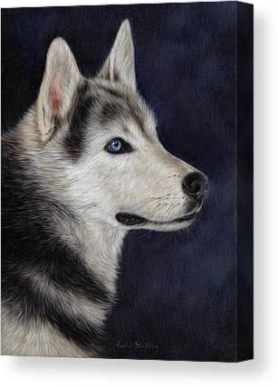 Husky Art Canvas Prints