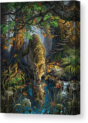 Fallen Leaf Digital Art Canvas Prints