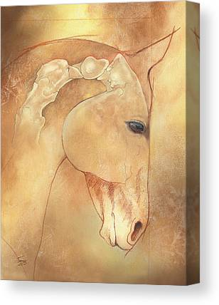 Equine Drawings Canvas Prints