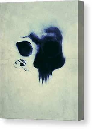 Grunge Skull Canvas Prints