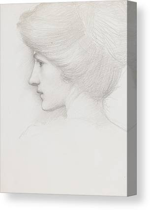 Updo Drawings Canvas Prints