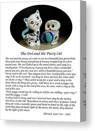 The Owl And The Pussy Cat Canvas Prints