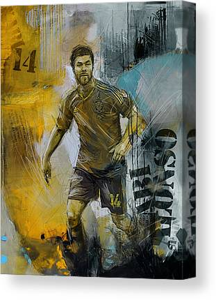 Xabi Alonso Canvas Prints