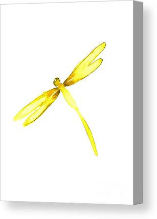 Yellow Dragonfly Canvas Prints