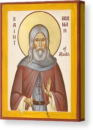 St Herman Of Alaska Canvas Prints