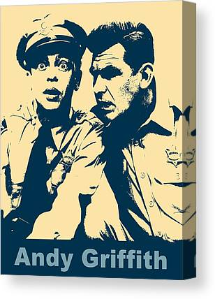 Andy Griffith Show Mixed Media Canvas Prints