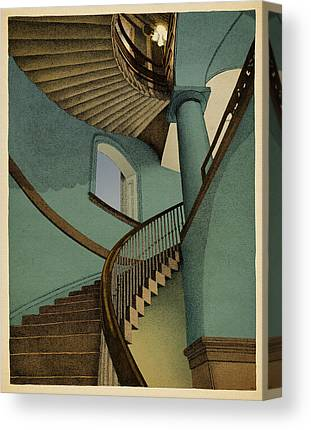 Stairs Drawings Canvas Prints