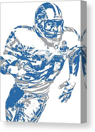 Barry Sanders Canvas Prints