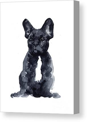 French Bull Dogs Canvas Prints