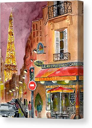 Brasserie Canvas Prints
