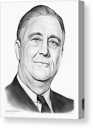 Franklin D. Roosevelt Canvas Prints