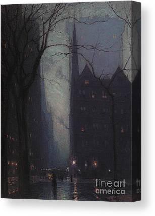 Streetlight Paintings Canvas Prints