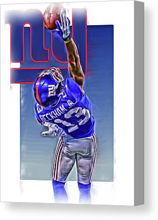 Odell Beckham Jr Canvas Prints