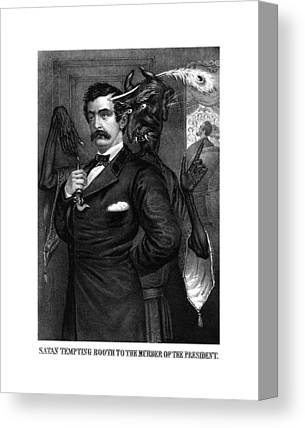 John Wilkes Booth Drawings Canvas Prints