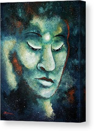Buddha Face Paintings Canvas Prints
