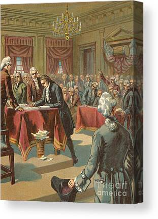 Continental Congress Drawings Canvas Prints