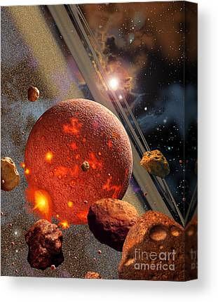 Planetoid Digital Art Canvas Prints