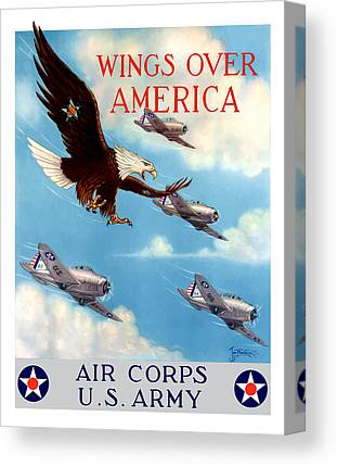 Air Force Paintings Canvas Prints
