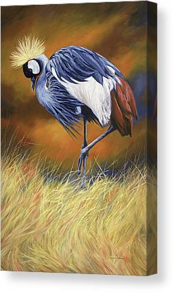 Crane Bird Paintings Canvas Prints