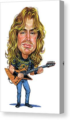 Dave Mustaine Canvas Prints