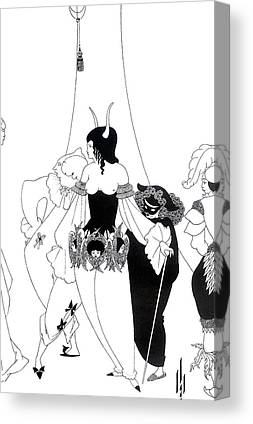 Black And White Erotic Drawings Canvas Prints