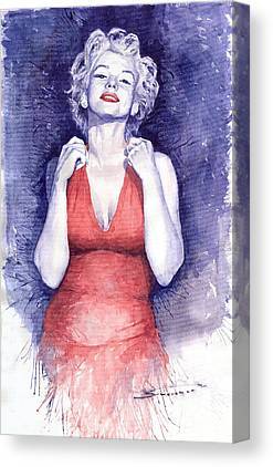 Retro Portret Canvas Prints
