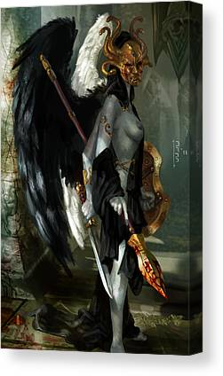 Goddess Of Death Canvas Prints
