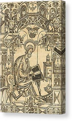Russian Icon Drawings Canvas Prints