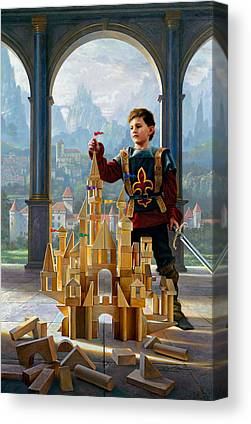 Knights Castle Paintings Canvas Prints
