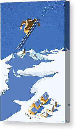 Colorado Ski Art Canvas Prints