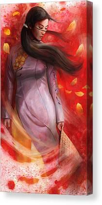 Painterly Mixed Media Canvas Prints